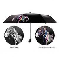Wholesale color sun umbrella for sale - Group buy Zebra Color Changing Umbrella Sunshade Folding Umbrella Anti UV Folding Outdoor Sunshade Folding Rain Sun Umbrellas OOA6150
