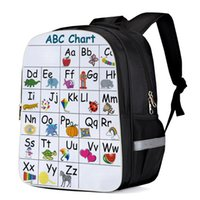 Wholesale alphabets animal cartoon for sale - Group buy Abc Chart Alphabet Of Cartoon Animals School Bag Child Book Bag Sports Bags Bottle Side Pockets School Student Silver Edge