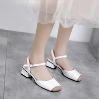 Wholesale small shoes 32 resale online - Sexy2019 Cool Incense Woman Baotou Summer New One Word Bring Coarse With Shoe Small Shoes Will