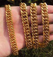 ingrosso catene in oro giallo-COLLANA A CATENA CUBAN LINK GIALLO MENS HEAVY YELLOW GOLD 23.6IN