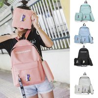 Wholesale girls hot school bags resale online - 3pcs School Bag Canvas Backpack for Teen Teenage Girls Kids Unisex Collection Children Cute School Bags Hot