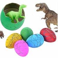 sihirli kuluçka yumurtası toptan satış-10 Ad / Çok Komik Sihirli Kuluçka Büyüyen Renkli Dinozor Yumurta Su Büyüyen Dinozor Oyuncaklar İçin Çocuk Eğitim Oyuncaklar Hediye ekle