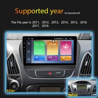 radio gps hyundai ix35 al por mayor-IPS 2.5D 4GB Ram 64GB Rom 9 pulgadas Android 8.1 Radio DVD de coche para 2009 2010 2011-2015 Hyundai IX35 Navegador GPS Reproductor multimedia