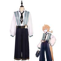 traje de kagamine al por mayor-Hatsune Miku Kagamine Len Cosplay Disfraz Disfraz de Halloween Juego completo