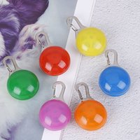 ingrosso collari di cani chiari-Collare d'ardore luminoso luminoso collare luminoso per cani ID Tag Ciondolo per cani Collare di cane LED collare luci