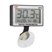 acuarios termómetro digital de agua. al por mayor-LCD Digital del acuario Acuario Termómetro Termómetro Sumergible Medidor de temperatura del agua 0 ° C ~ 50 ° C Alarma de temperatura alta / baja