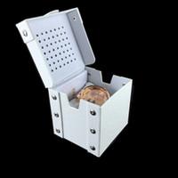 lista de marcas de relógios venda por atacado-2019 nova marca de moda caixa de relógio de couro genuíno quadrado branco grande caixa de lista de qualidade superior dz relógio estilo de pulso