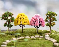 ingrosso figurines bonsai-20Pcs Mixes Style Mini Tree Micro Landscape Resin Artigianato Bonsai Figurine Garden Terrarium Accessori Fairy Garden Decorations