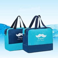 Wholesale drying clothes outdoors resale online - Wet Dry Separation Multifunction Bags Outdoor Travel Large Capacity Storage Men Women Beach Waterproof Bag Clothes Organizer BH0797 TQQ