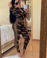 moda casual roupas mais tamanho venda por atacado-119 Moda Feminina Imprimir Fatos de Treino 2 Duas Peças Conjunto de Roupas de Mulher Esporte Outfit designer Agasalho treino plus size jogging ternos