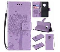 çiçek kelebek pu toptan satış-Kelebek çiçekler Lüks PU Deri Cüzdan Çevir Kapak Standı Telefon Kılıfı için Samsung S8 ve 7 8 XS max
