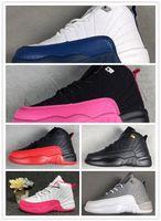 crianças sapatos de desporto marca venda por atacado-NIKE AIR JORDAN RETRO shoes 12 crianças shoes crianças 12 s tênis de basquete de alta qualidade calçados esportivos meninos da juventude meninas sapatilhas para venda tamanho