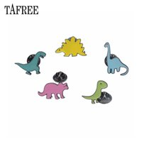 Wholesale pins animal jewelry for sale - Group buy Cute Dinosaurs Lapel Pins Colorized Enamel Brooch Animal Badge Pins UP children s interesting Jewelry Drop ship