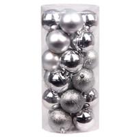 Wholesale christmas decor balls resale online - Christmas Decoration Balls Christmas Xmas Tree Ball Bauble Hanging Home Party Ornament Decor Silver As Shown
