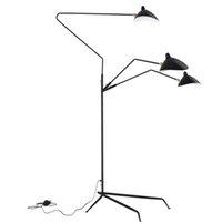 Modern Design Black White Floor Lamp Metal Mantis Arm Floor Light Standing Lamp Loft Industrial Bedroom Indoor Decor Table Lamps