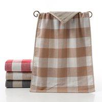 Wholesale face wash towels resale online - 35 cm Bath Towels for Adults Cotton Plaid Bath Towel Soft Face Washing Towels Bathroom Baths Use