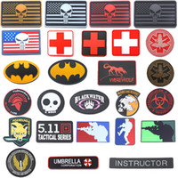 fuchs fuchs großhandel-3D Flag Patch Medical Rescue Größe Eye Sniper Fox Regenschirm World Air Force Seal Spartan Military Abzeichen Tactical Air Gun Patch