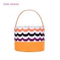 verkauf rosa süßigkeiten groihandel-Pink sugao Designer Handtasche Frauen heiße Verkäufe Eimer Tasche Halloween-Druck Eimer Tasche Halloween Korb Leinwand Candy Korb Fabrik Großhandel
