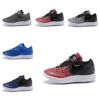 serbest çalışma tarzı toptan satış-NIKE FLEX CONTACT Yeni Stil Çocuk Tasarım Flex İletişim Ücretsiz Run Ayakkabı Eğitim Sneakers Çocuk Kız Erkek Yürüyüş Spor Koşu Ayakkabıları Atletik Artırır