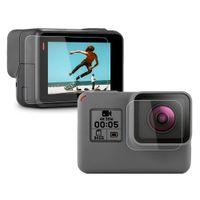kamera pro held schwarz großhandel-Gehärtetes glas objektiv + lcd displayschutzfolie für gopro hero 7 6 5 hero7 hero6 hero5 schwarz kamera schutzfolie für go pro