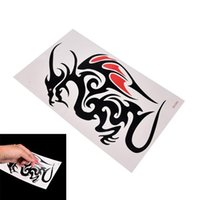 Wholesale big tattoo for women for sale - Group buy 1 Sheet Waterproof Big Large Full Back Chest Tattoo Sticker Wolf Tiger Dragon Body Art Temporary for Women Men Tattoo