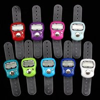 Wholesale electronic tasbeeh resale online - 500pcs Mini Hand Hold Band Tally Counter LCD Digital Screen Finger Ring Electronic Head Count Tasbeeh Tasbih