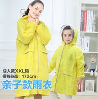 Wholesale raincoat girls for sale - Group buy 80 cm kids and mum parenting polyester reflective safety raincoat children girls school hoodies rainwear students poncho