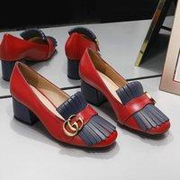 ingrosso nappa originale-2019 nuovo spessore con scarpe singole signore squisite scarpe casual generose scarpe di alta qualità nappa ape in pelle GG marchio originale wo