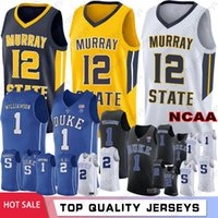 3c914779e4d NCAA 1 Zion Williamson Irving Duke Blue Devils College Basketball Jerseys 5  RJ Barrett 2 Cameron Reddis 12 Ja Morant Murray State College
