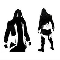 Wholesale assassins creed costume jacket for sale - Hot Sale Custom handmade Fashion Assassins Creed III Connor Kenway Hoodies Costumes Jackets Coat colors choose direct from factory