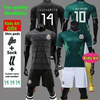or fille enfants achat en gros de-Gold Cup 2019 Camisetas Mexico 19 20 HOMME FEMMES ENFANTS maillot de football 2018 CHICHARITO LOZANO DOS SANTOS maillot de foot fille camisa de futbol