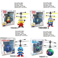 kinder elektrische kugel großhandel-RC Drohne Fliegen Hubschrauber Ball Flugzeug Hubschrauber Led Blinkt Leuchten Spielzeug Induktion Elektrische Spielzeug sensor Kinder Kinder Weihnachten