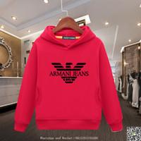 patrones de ropa suelta al por mayor-Niños Marca Hoodies 2019 Primavera Nuevo Patrón Edición Coreana Niños Extranjero Cabeza de Manga Suéter Chica de Moda Escudo suelto ropa de bebé
