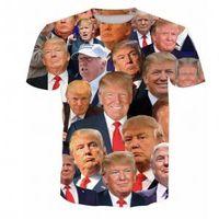 camisa de los hombres sobre la impresión al por mayor-Donald Trump Camiseta con estampado 3D Hombres de gran tamaño O-cuello Camisetas de manga larga Make America Great Again Inicio Ropa Tops AAA1682
