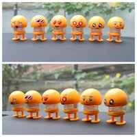 Wholesale robot decor for sale - Group buy Shaking Head Toys Car Ornaments Dolls Cute Cartoon Funny Emoji Wobble Head Robot Lovely Car Dashboard Decor Auto
