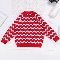 suéter de moda chico coreano al por mayor-Casual suéter de invierno para niñas niños moda coreano raya niñas suéter del bebé cómodo y cálido bebé niño ropa