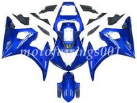 kit de carenado yamaha r6 azul al por mayor-Nuevo estilo de kit de carenados ABS apto para Yamaha YZF-R6 R6 2003 2004 2005 03 04 05 Custom Free Blue