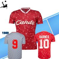 xxl oyunlar yetişkinler toptan satış-89 Retro versiyonu Havuzu Kırmızı Futbol Forması Yetişkin Kısa Kollu Collection1989 Için Futbol Gömlek Ligi Kulübü Özelleştirmek Oyun Üniformaları Futbol Gömlek