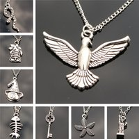 Wholesale one direction chain necklace resale online - Fashion Pendants Necklace Chain Women Jewelry Accessories Retro Key Snake Birds Collares Collier One Direction Christmas Gift
