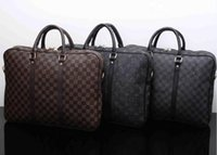 Wholesale business briefcases men for sale - Group buy luxury designer mens laptops bags crossbody messenger briefcase bag PU leather shoulder business briefcases for man fashion brand handba