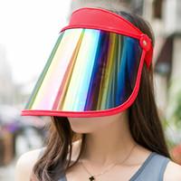 ingrosso visiere anti uv cappello-1 cappellino da sole estivo da cappellino da sole cappellino da curling parasole da sole copricapo pieghevole per visiera parasole anti UV auto all'ingrosso