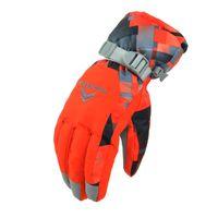 muchachos guantes blancos al por mayor-Hombres y mujeres Imprimir Guantes de esquí Invierno Snowboarding profesional Esquiar Cálidos guantes de nieve impermeables a prueba de viento
