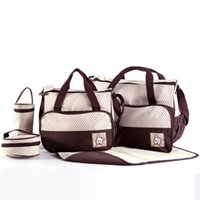 Wholesale mama diapers resale online - Baby diaper bag mummy baby diaper bag nursery bags Mama Bags multi colors mixed order