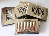 lip gloss does not fade 도매-6 개 / 몫 매트 립스틱 사라지지 않습니다 아름다움 유약 액체 립글로스 모이스처 라이저 생일 에디션 립스틱 립 메이크업