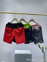 yüz takibi toptan satış-19ss Paris The North Esnek Pantolon elastik bel parça Pantolon Gündelik spor koşucu Sweatpants Açık Kumaş Stretch Naylon Shorts Face