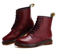 calçado para neve venda por atacado-Unisex clássico 1460 Botas De Couro Genuíno Ankle boots homens e mulheres botas de Neve de inverno Doc Martens Sapatos Tornozelo Botas dms Dr Martins sapatos