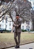 traje a medida hombres tweed al por mayor-TPSAADE Traje Donegal Tweed para hombre A medida Marrón Traje Tweed para hombre Sastre Hombre Breasted individual Notch Lapel Jacket + Pant + Chaleco
