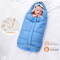 bebeğin termal torbaları toptan satış-Bebek arabasıyla yenidoğanlar Uyku Termal Çuval Pamuk Çocuk Uyku Sack İçin Çanta Kış Zarfı Sleeping
