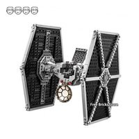Wholesale imperial toy resale online - Fit Star Series Wars Imperial TIE Fighter Figures DIY Educational Building Blocks Toys For Children Gifts Bela T191204