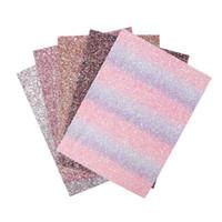 dekorasyon için yeni malzemeler toptan satış-22 CM * 30 CM Yeni Glitter Suni Deri Kumaş Tıknaz Kumaş Parti Düğün Dekorasyon DIY Hairbows Patchwork Craft Malzemeleri